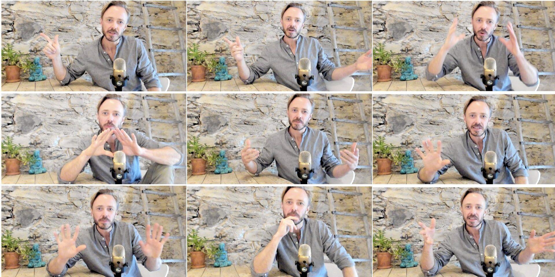Videomöten handgester retorik